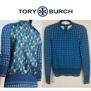 Tory Burch Walda Beetle Sweater in Silk & Wool